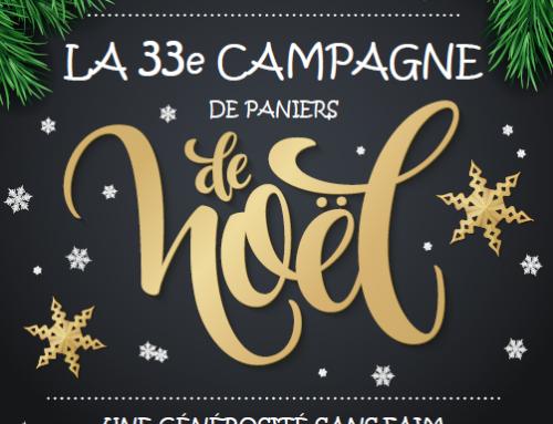 33e campagne de paniers de Noël