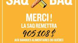 La SAQ remet plus de 40 000 dollars au centre de bénévolat et moisson Laval, membre du réseau des Banques alimentaires du Québec