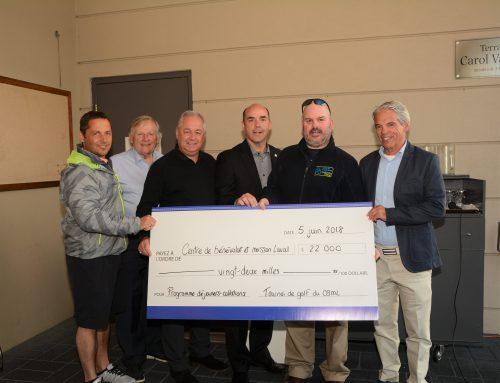22 000$ amassés à la 18e édition du tournoi de golf bénéfice pour le programme déjeuners-collations
