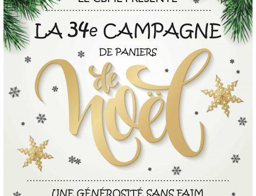 34e Campagne de paniers de Noël