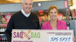 À temps pour la rentrée, la SAQ remet 375 573 $ au réseau des Banques alimentaires du Québec (BAQ)