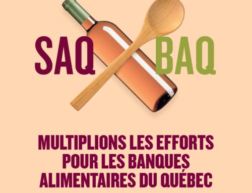 La SAQ continue de partager grâce à sa campagne de la rentrée  pour les Banques alimentaires du Québec (BAQ)