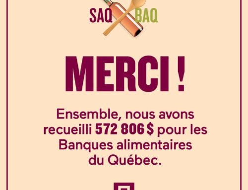 La SAQ remet plus de 500 000 $ au réseau des Banques alimentaires du Québec (BAQ)